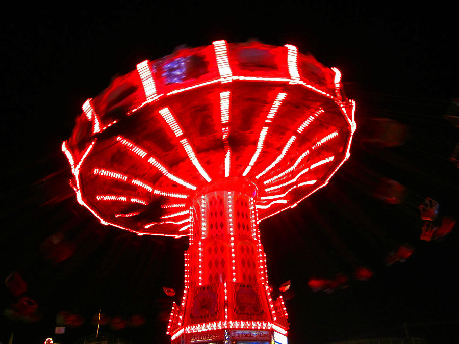 Fairs Photograph - Red Ride Is Wild by Kym Backland