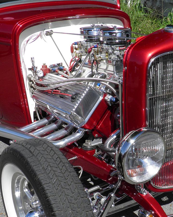 Ford Photograph - Red Roadster Hot Rod Fine Art Photo by Sven Migot