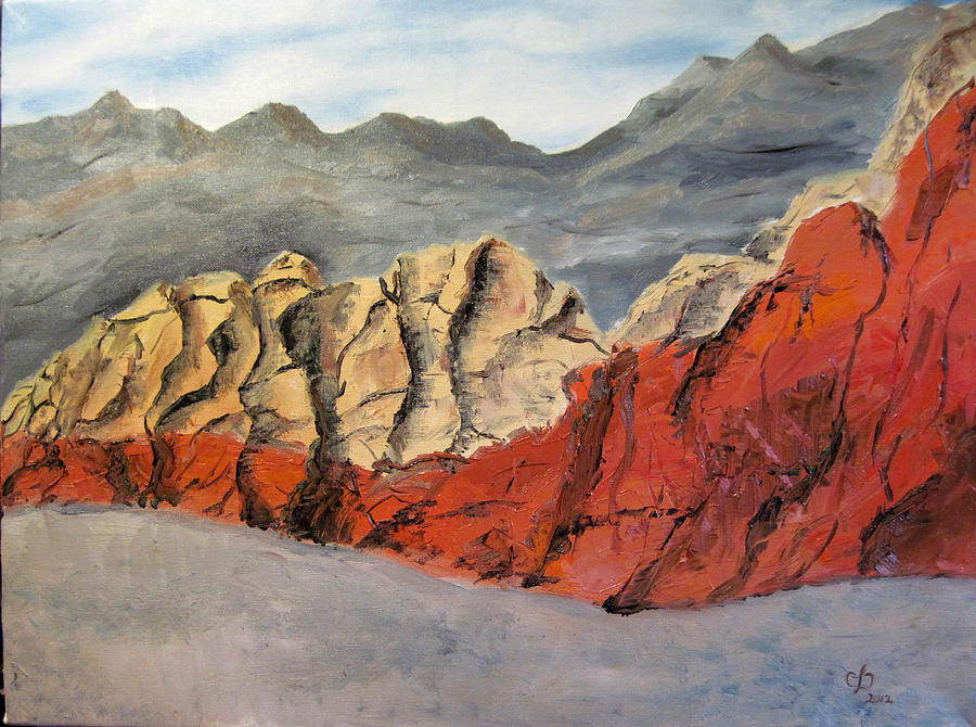 Desert Painting - Red Rock Canyon by Claudia Croneberger