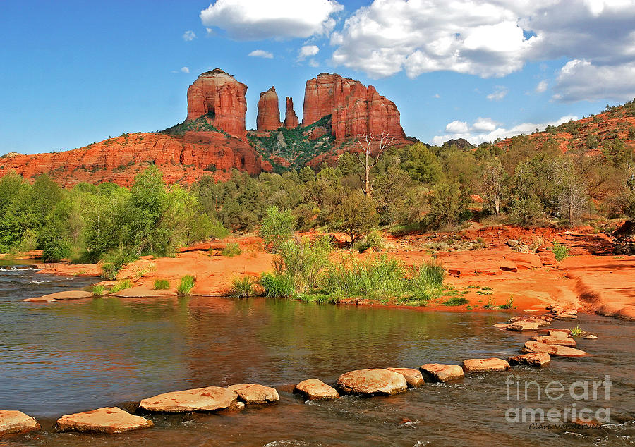 Red Rock Crossing Photograph - Red Rock Crossing by Clare VanderVeen