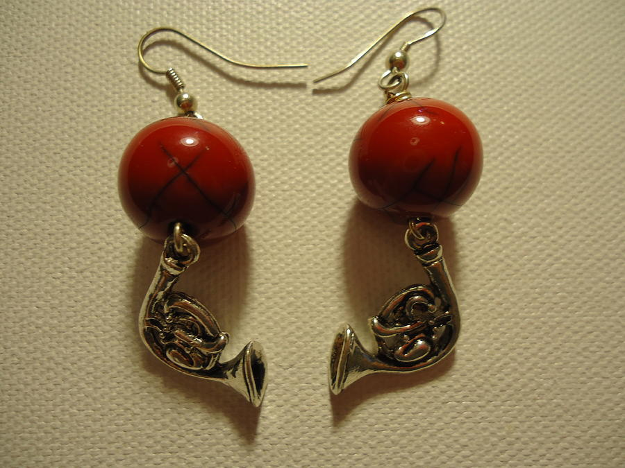 Jenna Green Photograph - Red Rocker French Horn Earrings by Jenna Green