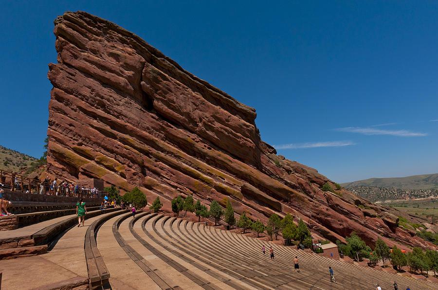 Colorado Photograph - Red Rocks Amphitheater by Jason Turuc
