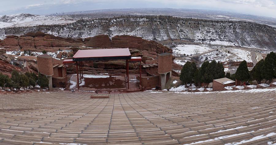 Artbykennedy Digital Art - Red Rocks Amphitheatre by Bill Kennedy