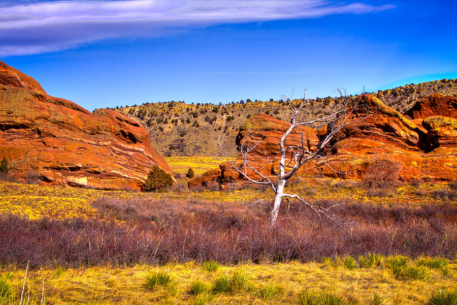 red rocks park colorado v photograph by david patterson