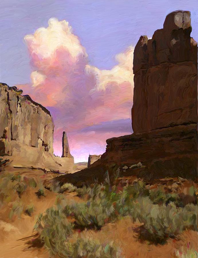 Arizona Digital Art - Red Rocks by Snake Jagger