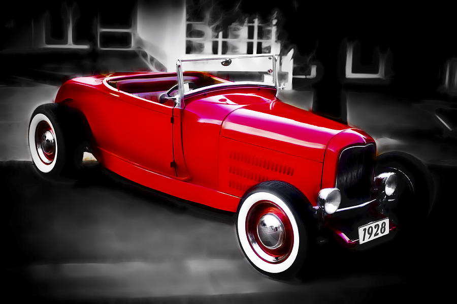 Hot Rod Photograph - Red Rod by Phil motography Clark