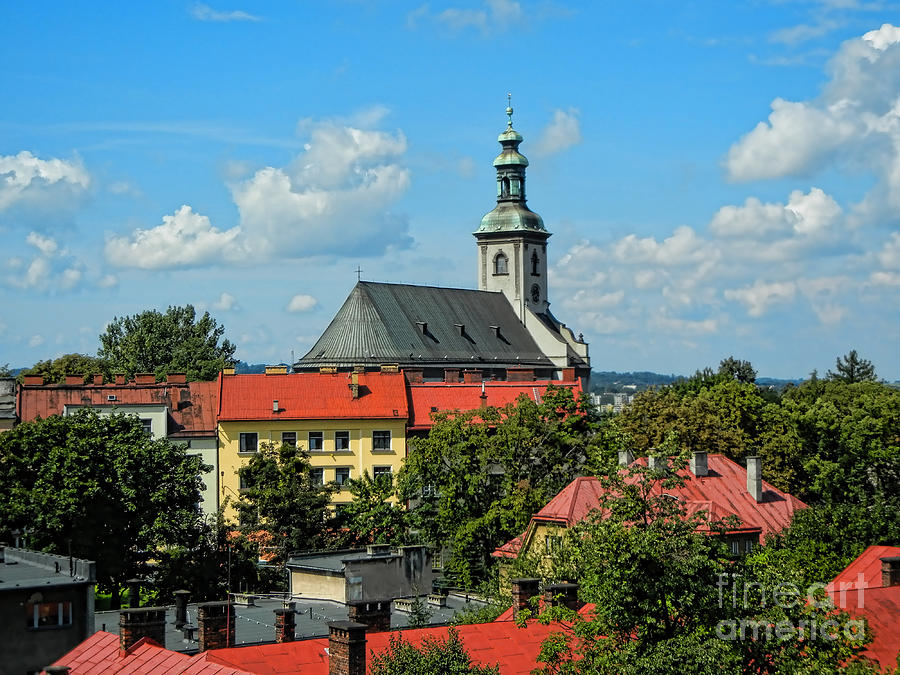 Cieszyn Photograph - Red Roofed Wonders by Mariola Bitner