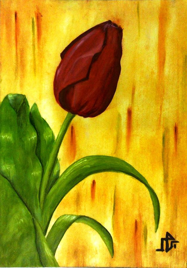 Rose Painting - Red Rose by Baraa Absi