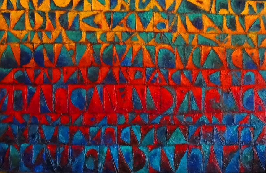 Abstract Painting - Red Sails At Sunset II by Bernard Goodman