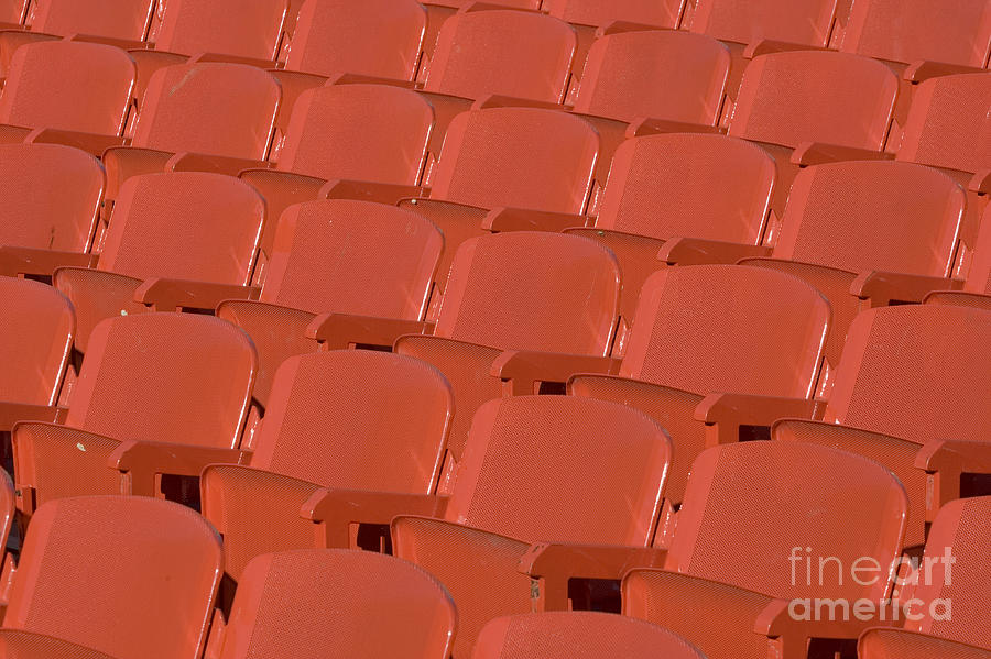 Red Photograph - Red Seats by Alex Rowbotham