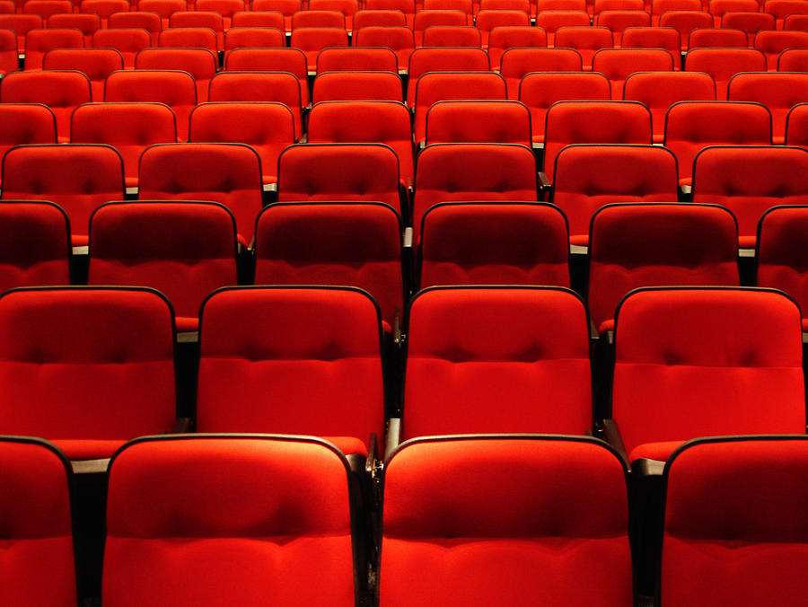 Horizontal Photograph - Red Seats by Life is but a collection of images.