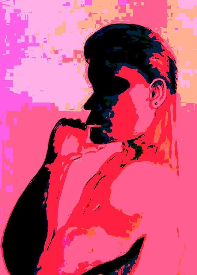 Man Digital Art - Red Shadow Man by Marian Hebert