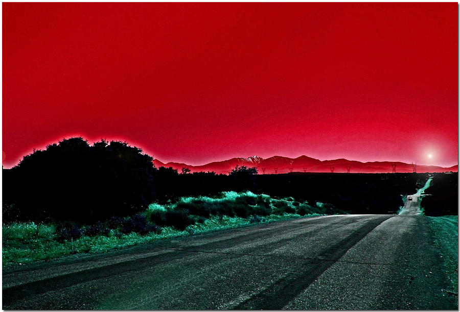 Landscape Photograph - Red Sky At Night by Chet King