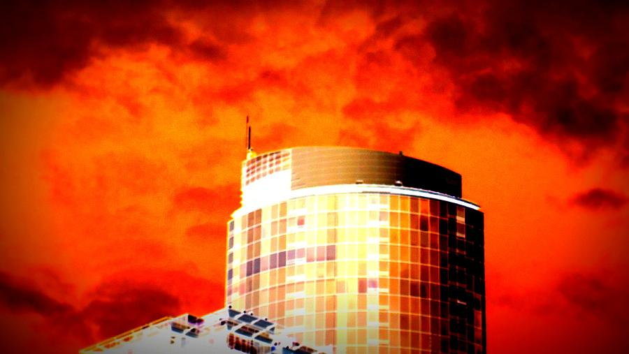 Red Sky Photograph - Red Sky Vancouver by Randall Weidner
