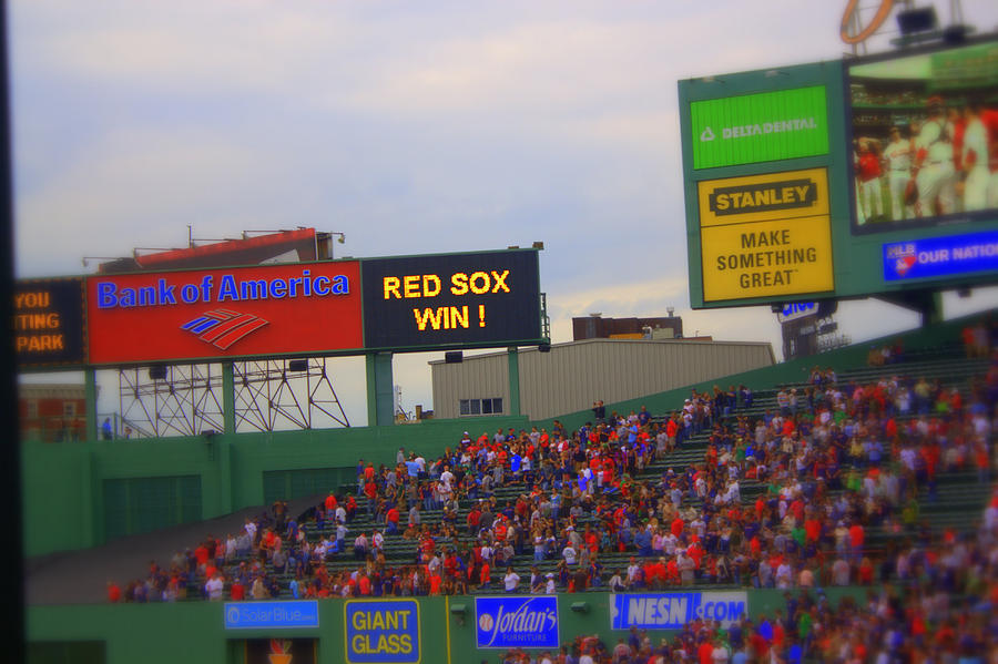 Red Sox Photograph - Red Sox Win by Greg DeBeck