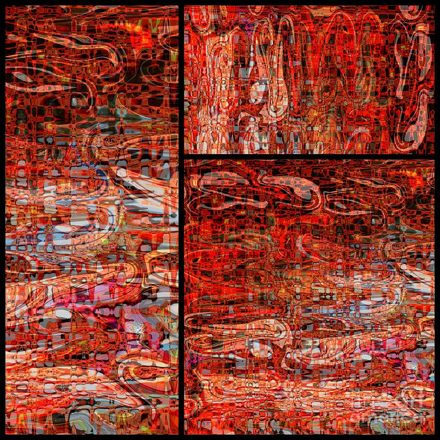 Red Photograph - Red Splashes Swishes And Swirls - Abstract Art by Carol Groenen
