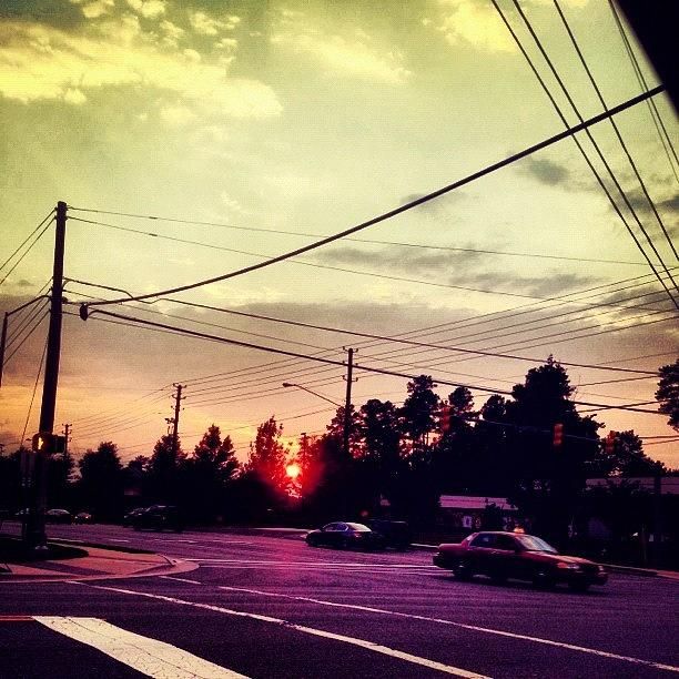 Cary Photograph - #red #sun by Katie Williams