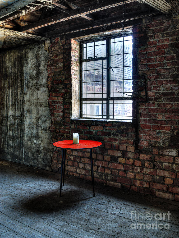 Abandoned Photograph - Red Table by Steev Stamford