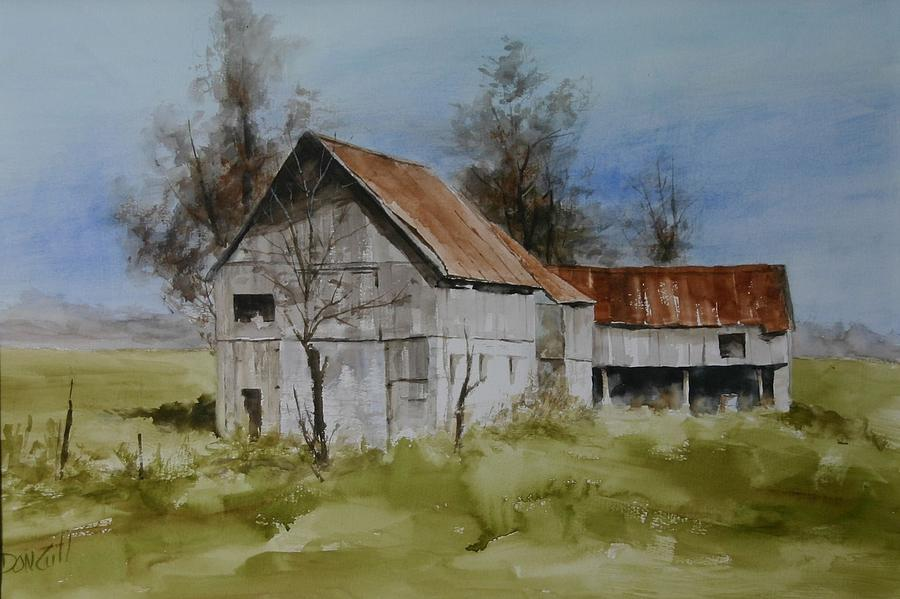 Landscape Painting - Red Tin Roof by Don Cull