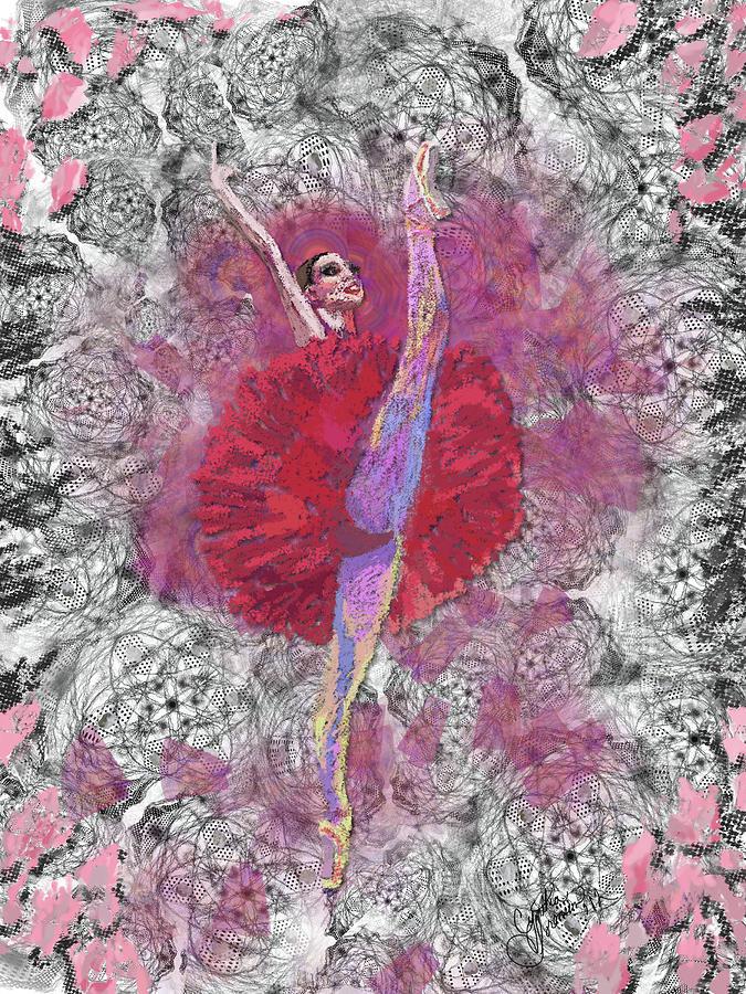 Dance Digital Art - Red Tutu by Cynthia Sorensen
