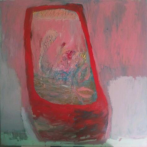 Abstract Painting - Red Vase by Brooke Wandall