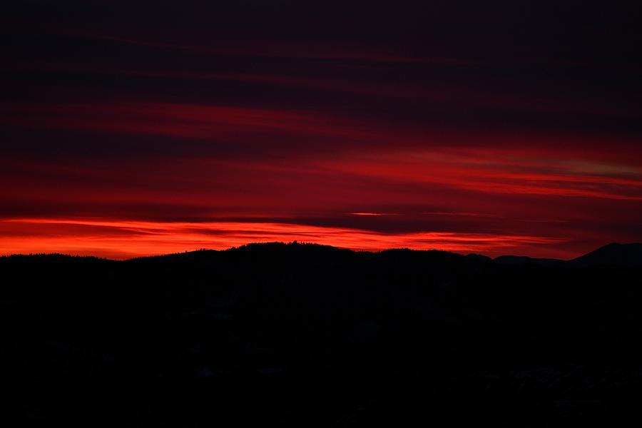 Sunset Photograph - Red Velvet Sky by Kevin Bone