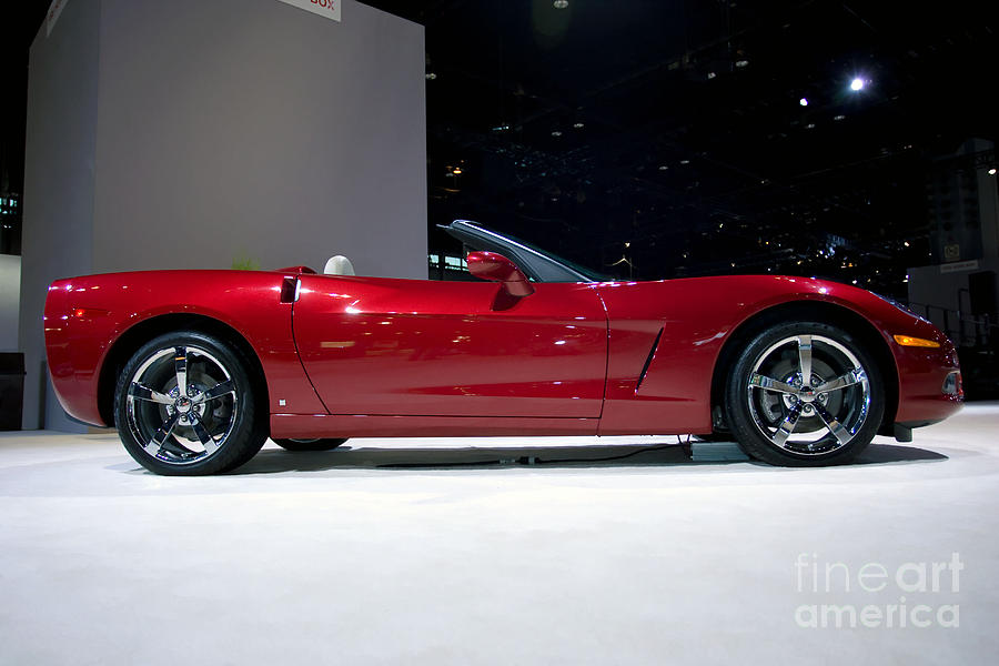 Automotive Photograph - Red Vette by Alan Look