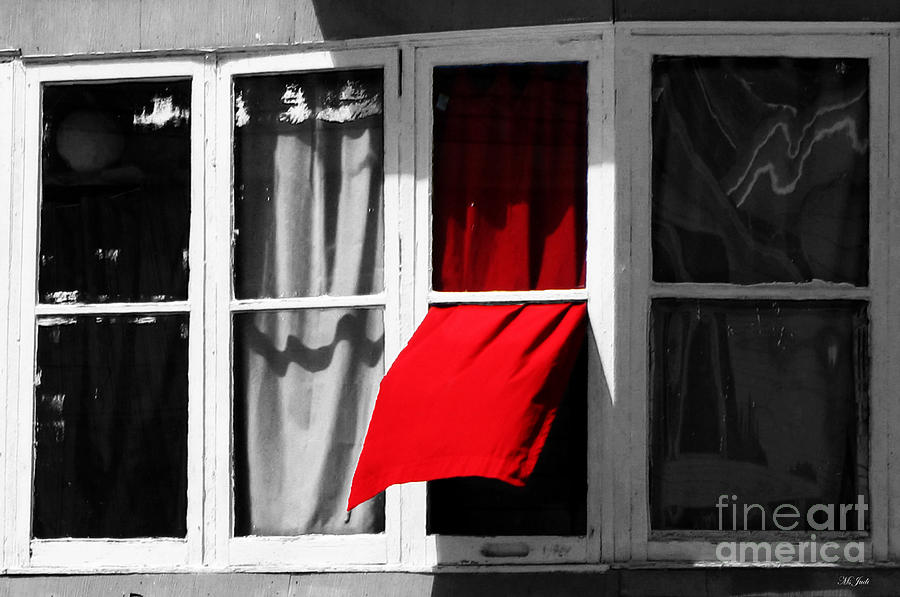 Window Photograph - Red Wave by Ms Judi