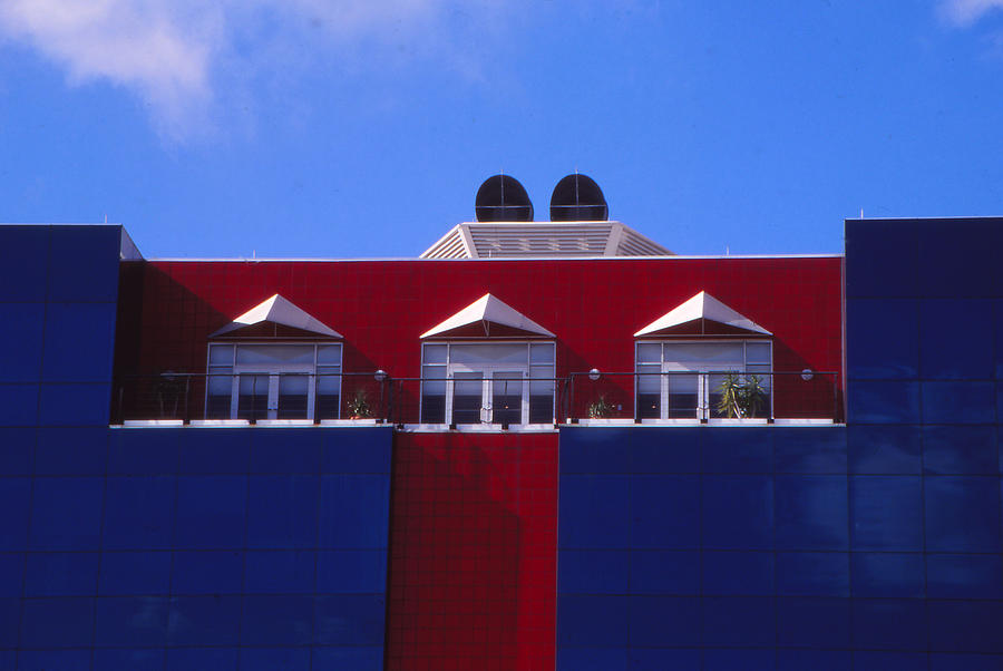 Building Photograph - Red White And Blue by Bob Whitt