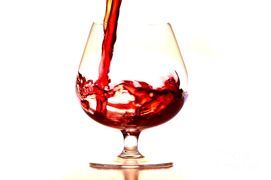 Glass Photograph - Red Wine by Michal Boubin