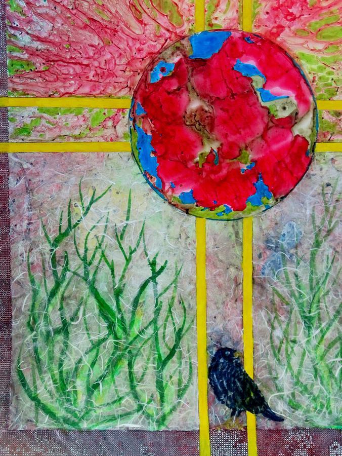 World Painting - Red World by David Raderstorf