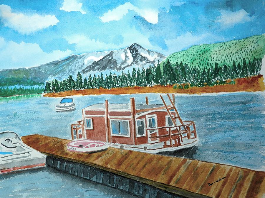 Lake Painting - Redfish Lake by Don L Williams