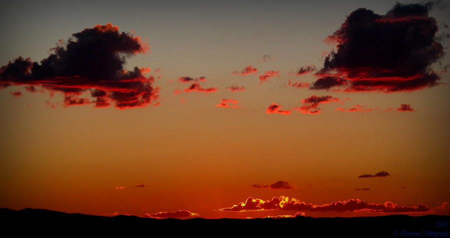 Mount Taylor Photograph - Reds Of An Autumn Sky by Aaron Burrows
