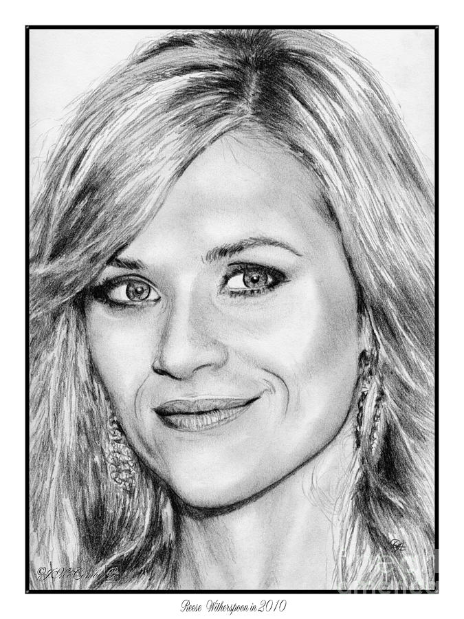 Reese Witherspoon Drawing - Reese Witherspoon In 2010 by J McCombie