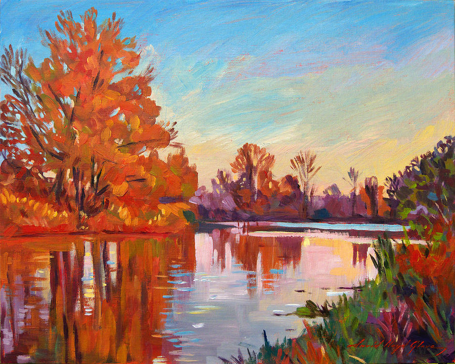 Landscape Painting - Reflected Impressions by David Lloyd Glover