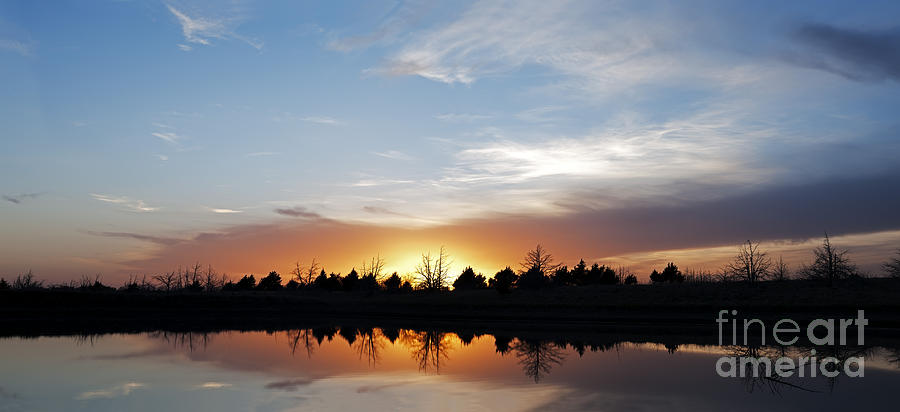 Prairie Sunset Photograph - Reflected Sky by Art Whitton