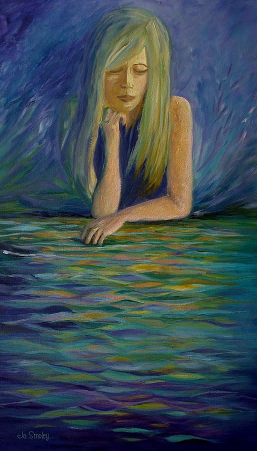 Portrait Painting - Reflecting On My Youth by Joanne Smoley