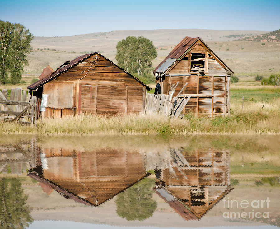 Fine Art Photograph - Reflection Of An Old Building by Donna Greene