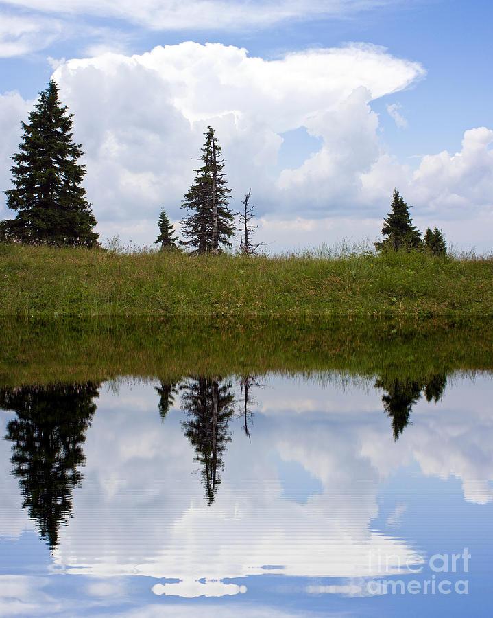 Odon Digital Art - Reflection Of Lake by Odon Czintos