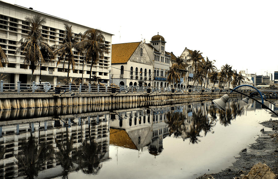 Horizontal Photograph - Reflection Of Old Buildings by Aris and Ressy