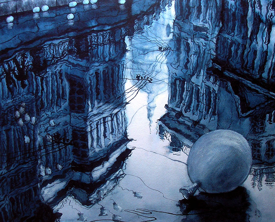 Reflection Of St Petersburg Drawing By Aleksey Zuev