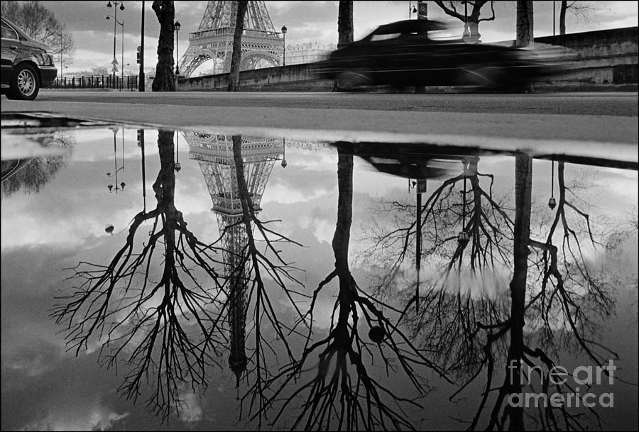 Tour Eiffel Photograph - Reflection of the Eiffel Tower by Aldo Cervato