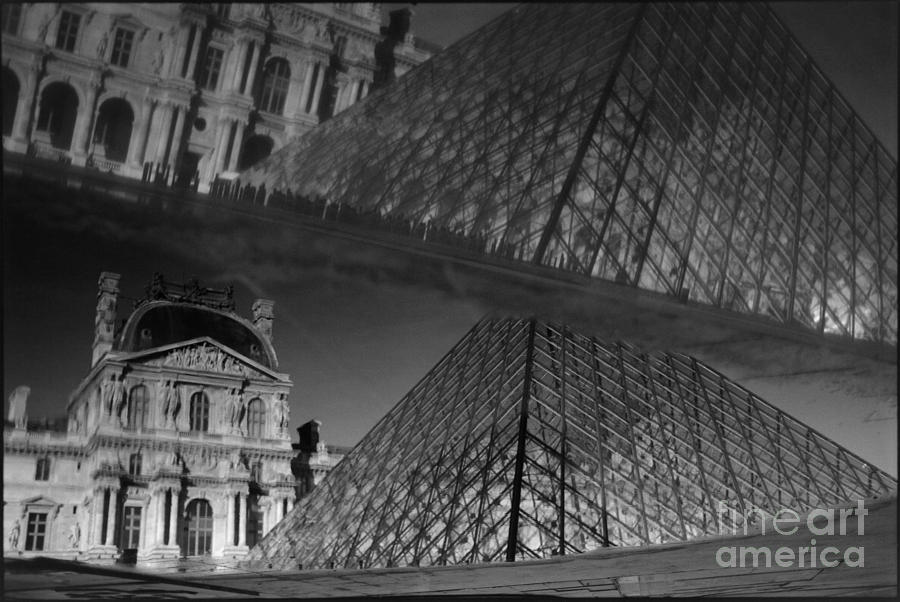 Musee Du Louvre Photograph - Reflection of the Louvre by Aldo Cervato