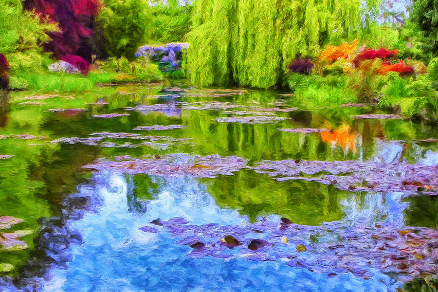 Monet Painting - Reflections At Giverny by Dominic Piperata