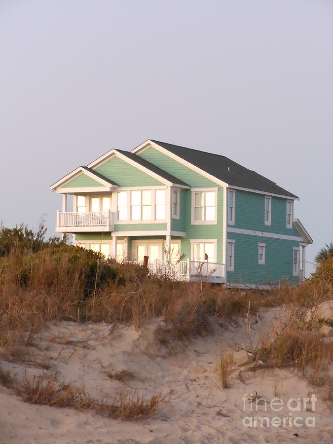 Beach House Photograph - Reflections from a Beach House by Beebe  Barksdale-Bruner