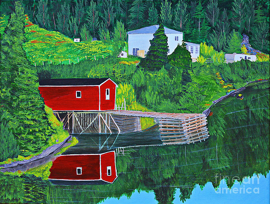 Reflections Painting - Reflections H D R by Barbara Griffin