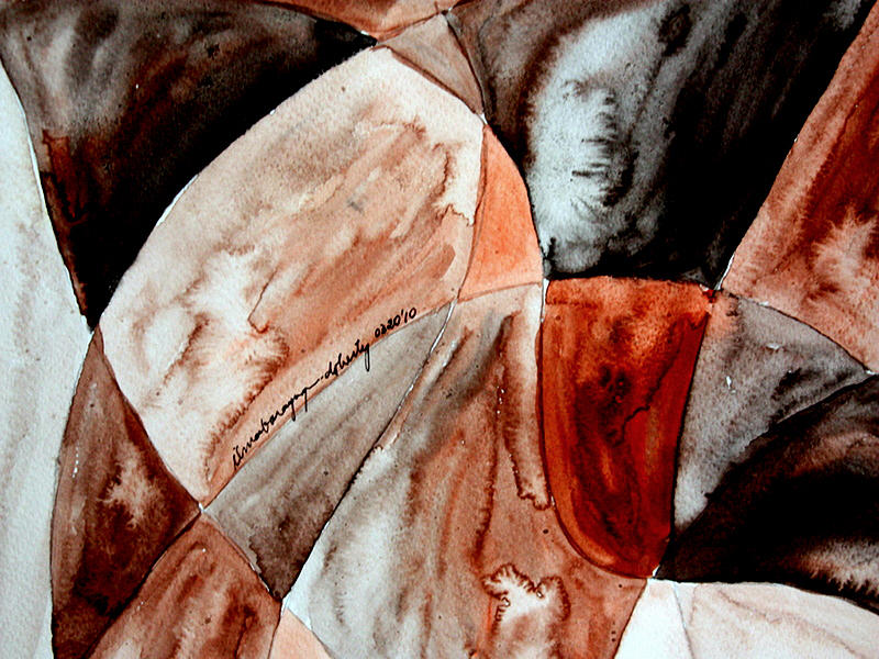 Abstractions Painting - Reflections by Ilma Barayuga Doherty