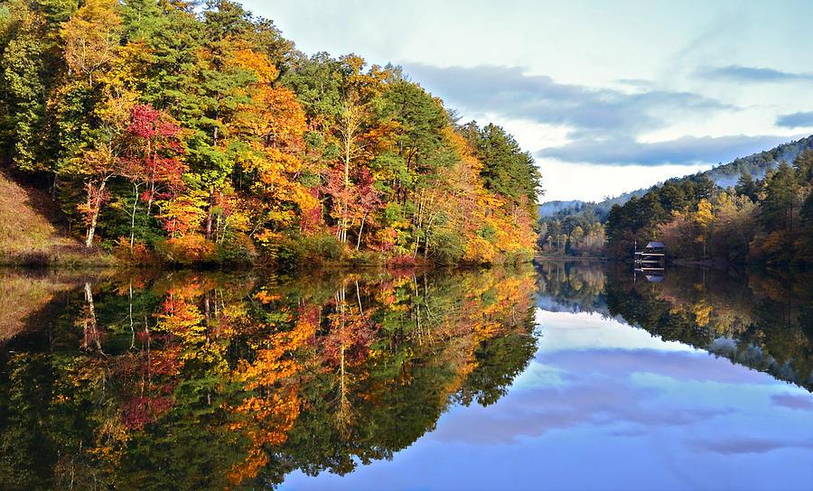 Landscape Photograph - Reflections Of Autumn by Susan Leggett