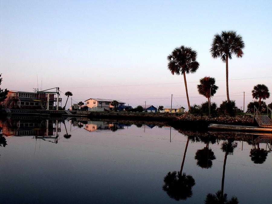 Fish Photograph - Reflections Of Keaton Beach Marina by Marilyn Holkham