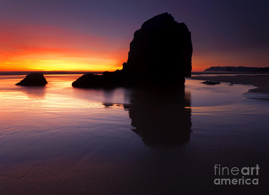Cannon Beach Photograph - Reflections Of The Tides by Mike  Dawson